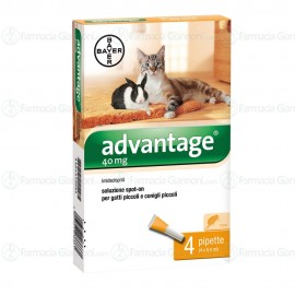 Advantage soluzione spot-on 40ml 4 pipette