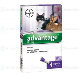 Advantage soluzione spot-on 80ml (4 pipette x 0,8ml)