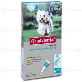 Advantix Spot On Per Cani Da 4 A 10 Kg.