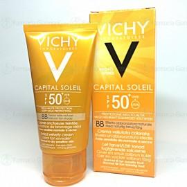VICHY CAPITAL SOLEIL SPF50 emulsione COLORATA anti-lucidità effetto asciutto da 50ml