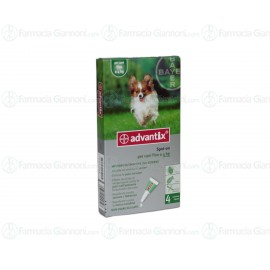 Advantix Spot-on per cani fino a 4kg - 4 pipette da 0,4ml