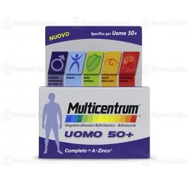 MULTICENTRUM UOMO 50+ Confezioni da 60 compresse deglutibili.