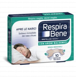 Cerotti nasali RESPIRA BENE AROMI BALSAMICI ADULTI-10 Bretelle
